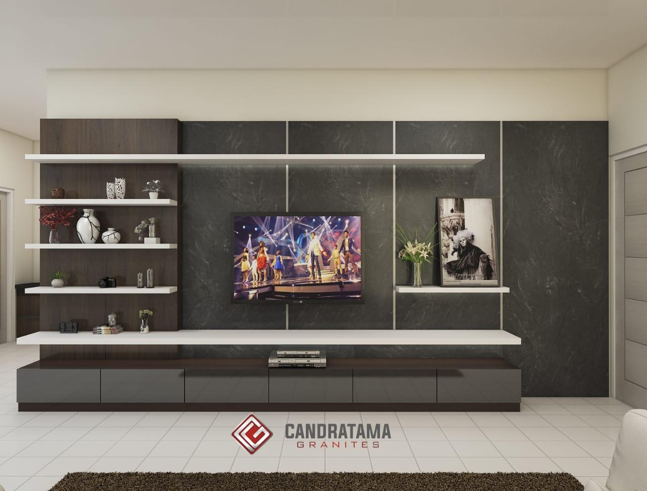 desain backdrop tv terbaru