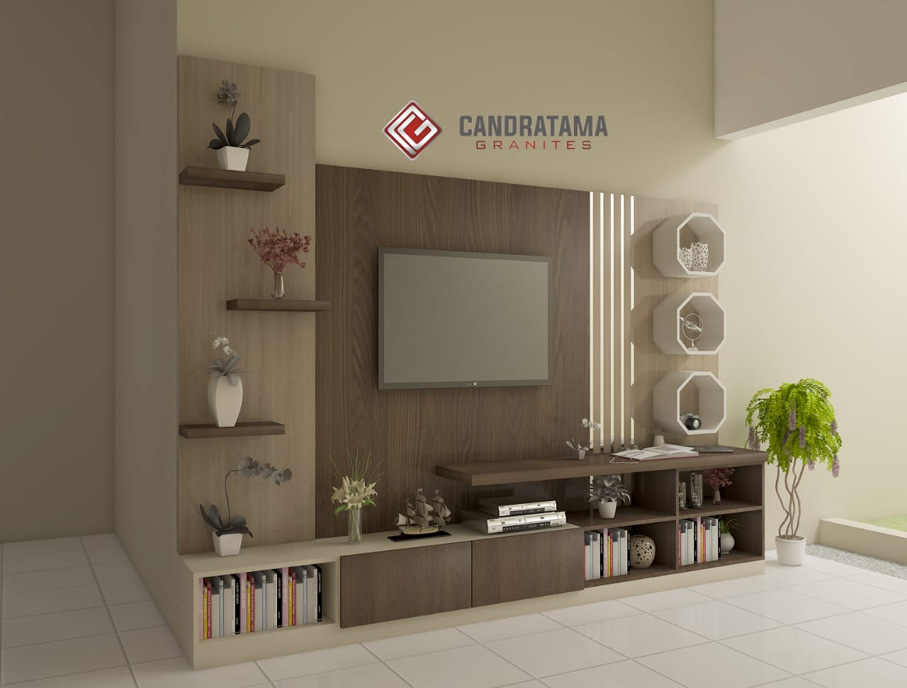backdrop tv minimalis murah