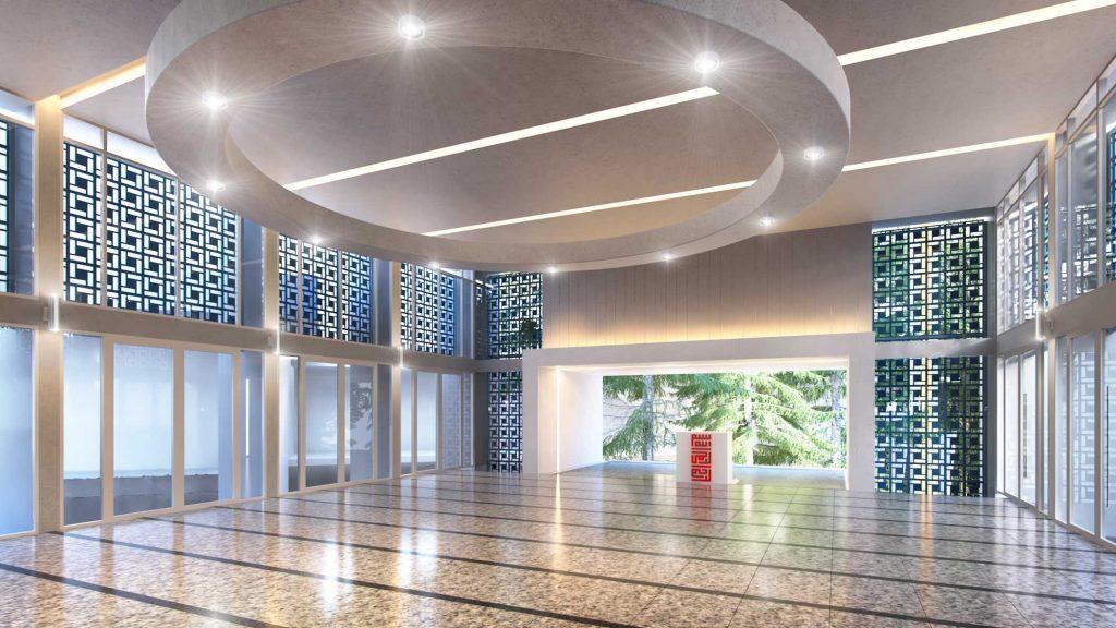 granit elegan interior masjid