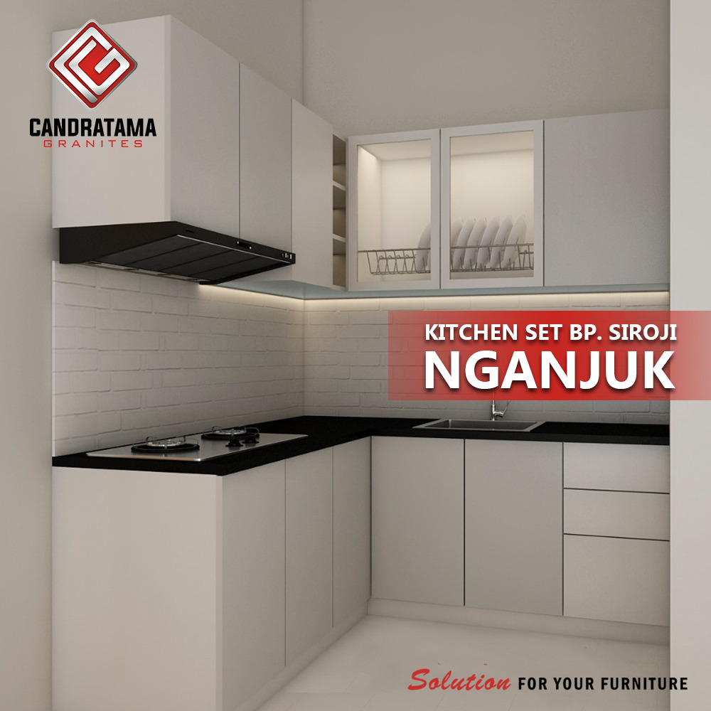 kitchen set minimalis putih