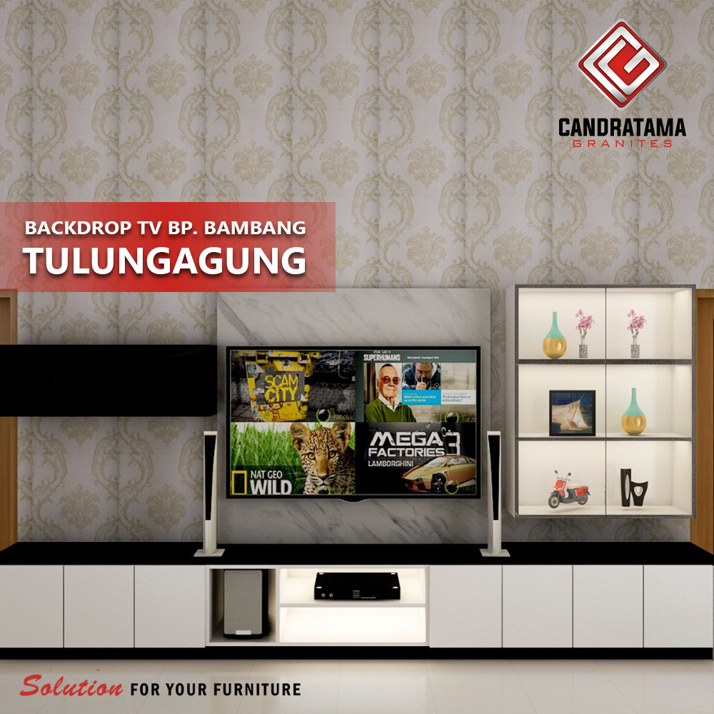 backdrop tv minimalis elegan