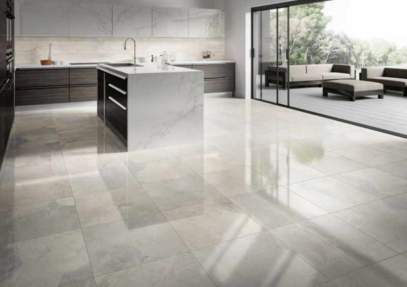 granit interior rumah modern