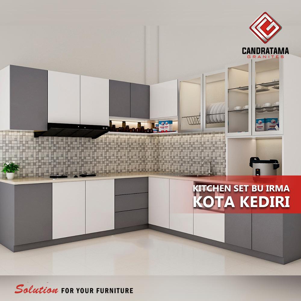 merancang kitchen set modern