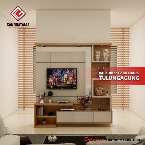 model backdrop tv modern