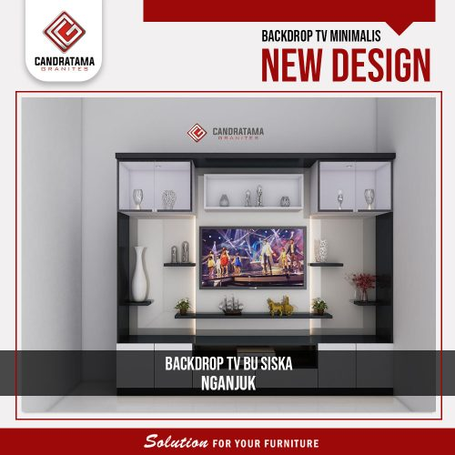 desain interior backdrop tv