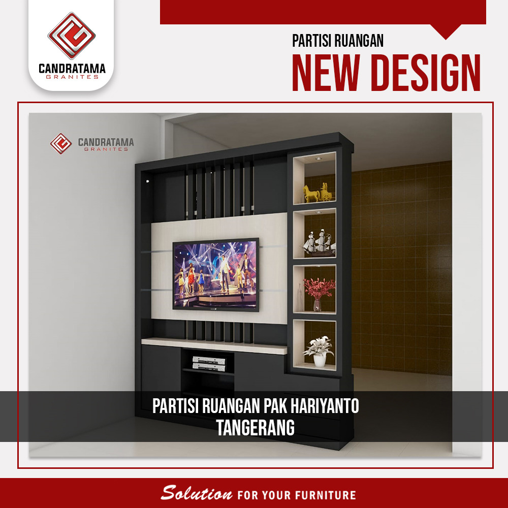backdrop tv partisi ruangan