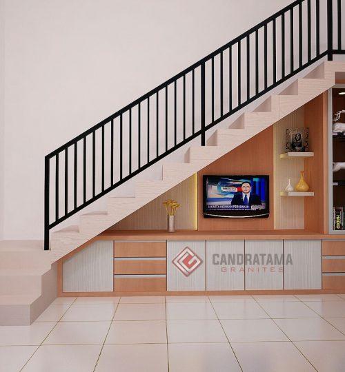 backdrop tv minimalis tangga