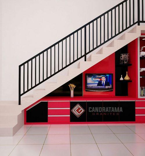 lemari bawah tangga cantik
