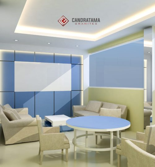 lobby kantor dirancang