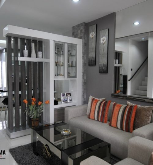 interior ruang tamu simple